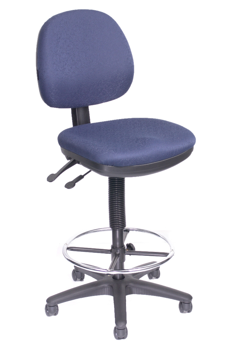 Office Direct QLD West Lookout Fabric Navy Blue Chair Office Direct QLD